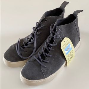 Mens Toms Grey Suede Mid-Tops Size 9.5